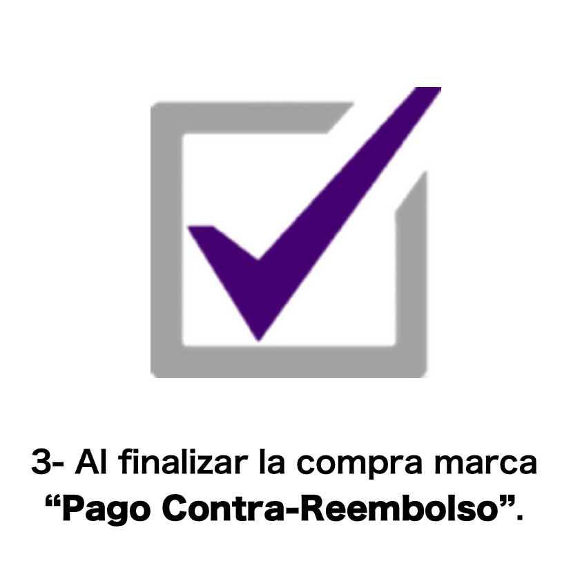"""Al finalizar la compra, marca """"Pago Contra Reembolso"""""""